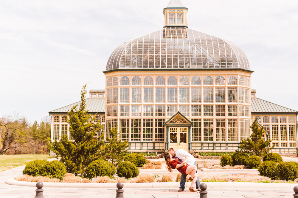 HP Rawlings Conservatory - Baltimore Engagement Session - Brooke Michelle Photography