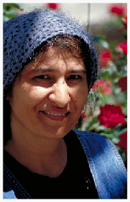 "Marina Borukhova operated the mikvah at Samarkand's new city synagogue. Her grandfather was a rabbi in the old Samarkand synagogue (the Gumbaz) and her family always kept Shabbat, Pesach and kashrut. ""We were always proud to be Jewish,"" Marina recalls. Most of her friends and relatives have emigrated to America and Israel. Marina explains, ""Life here is not bad, but there is no future."" She asks, ""One question: who will my children marry?"""