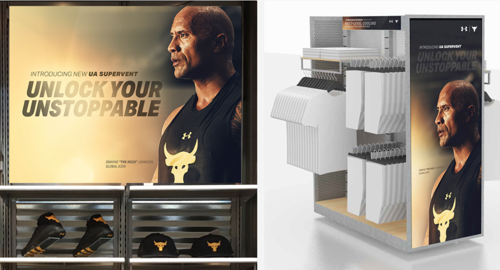 Under Armour Project Rock, Dwayne Johnson retail