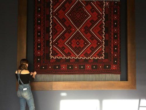 Custom Woven Rug on Loom for Swatchroom//Karma
