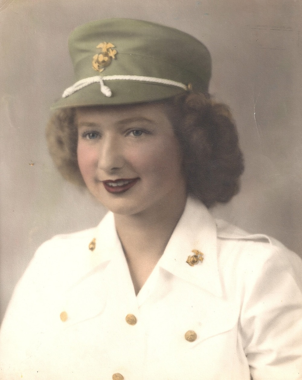 A lovely image of my grandmother while serving this beautiful country.