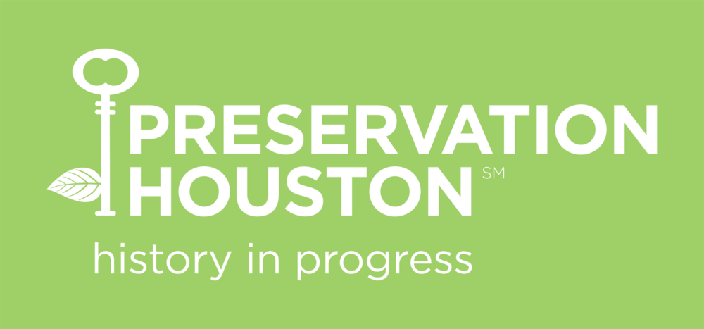 Preservation Houston's new name, logo and tagline, History in Progress, were introduced in 2012.