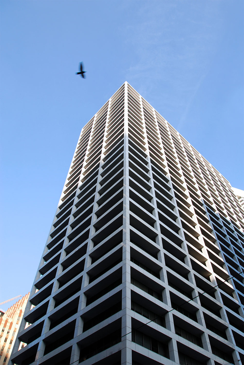The former First City National Bank Building on Main Street was one of Houston's first modernist skyscraper when it opened in 1961. /  photo by Jim Parsons