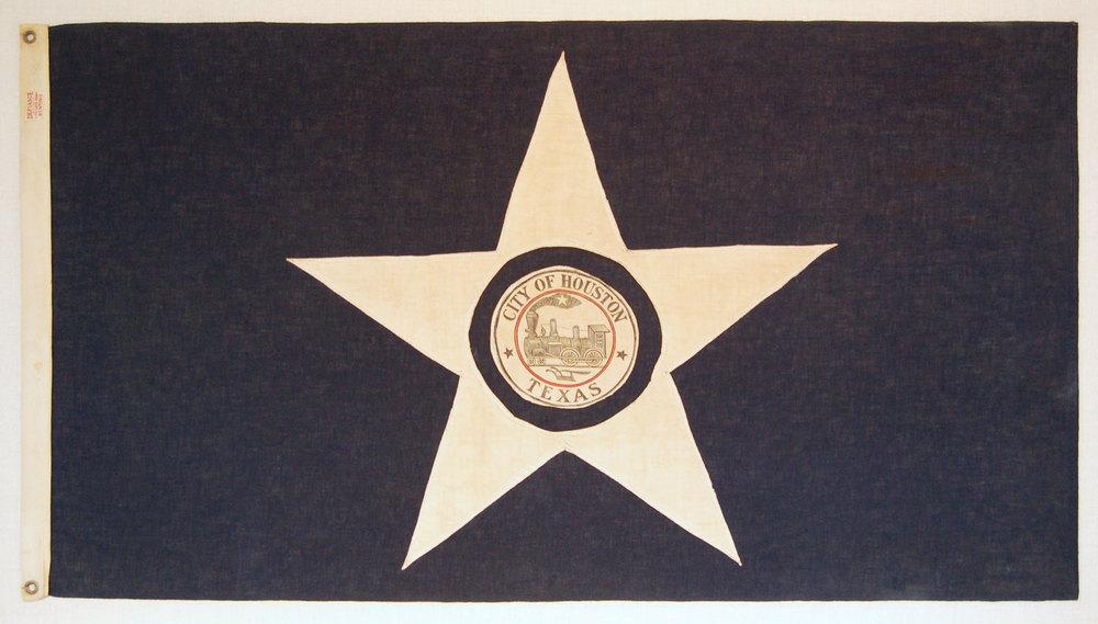 Restored 1915 prototype of Houston city flag /photo courtesy of Jessica Hack