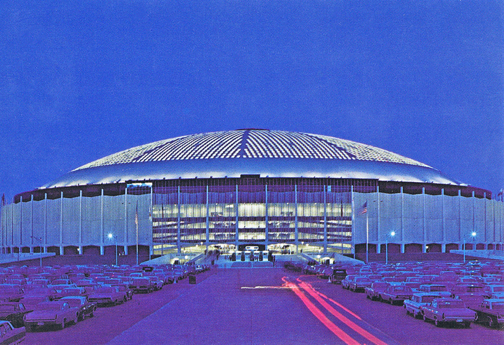Harris County Domed Stadium (1965, Wilson, Morris, Crain & Anderson with Lloyd, Morgan & Jones) /  postcard from PH file