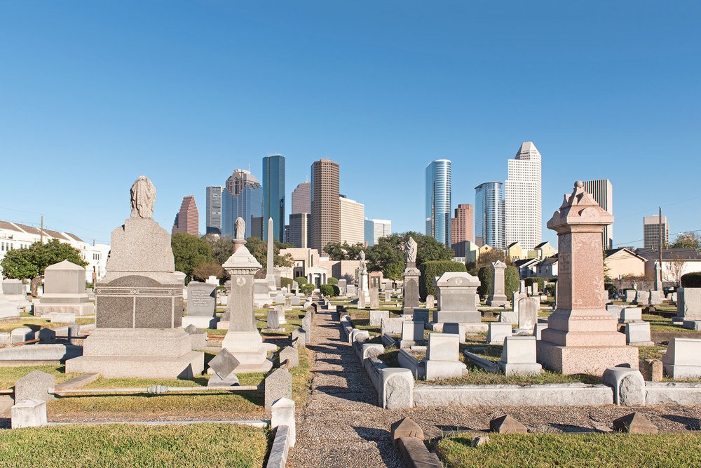 Beth Israel Cemetery, established in 1844, is the oldest Jewish institution in Texas and the resting place of many prominent Houstonians. / photo by Jim Parsons