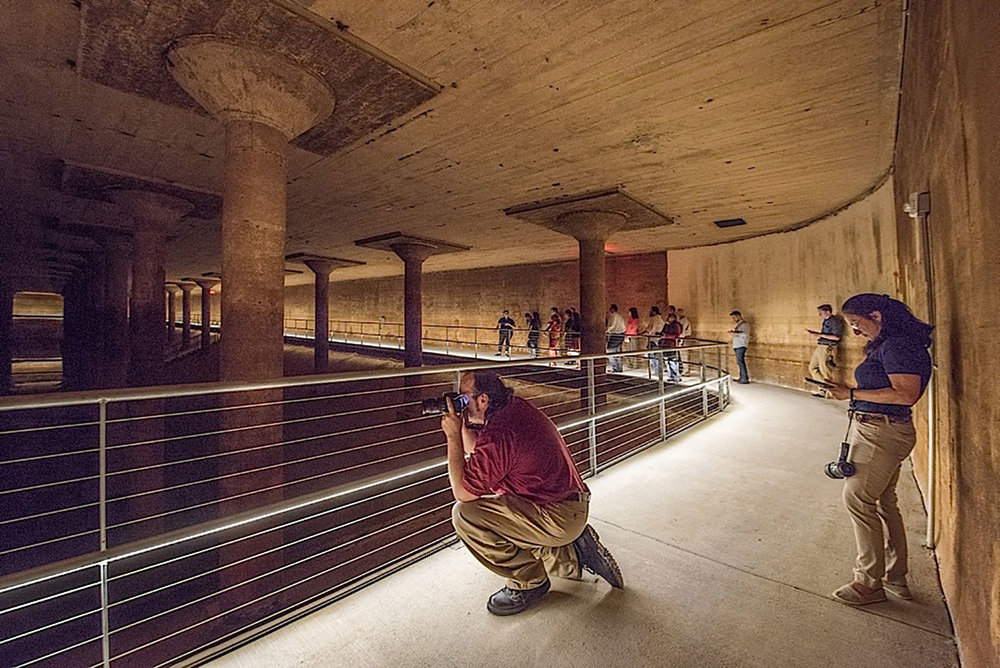 The Martha Peterson Award: Buffalo Bayou Partnership for the rehabilitation and adaptive re-use of the Buffalo Bayou Park Cistern (1926) /  photo by John C. Lindy