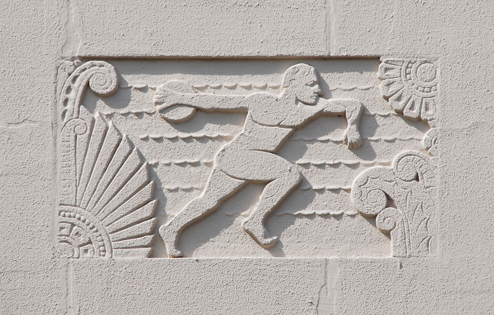 Relief plaques, Webster High School /  photos by David Bush