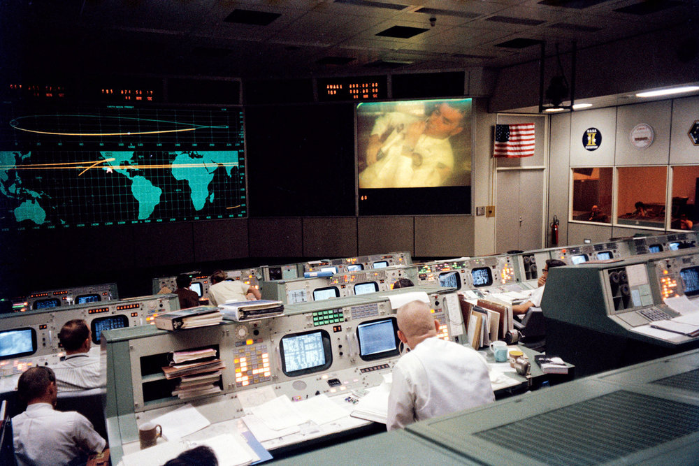 Mission Control, shown on April 13, 1970, during the Apollo 13 mission / photo courtesy of NASA