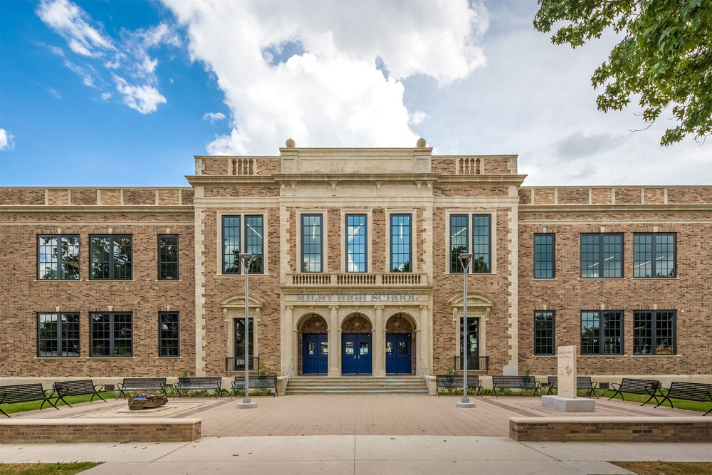 Houston Independent School District for preserving the historic building at Milby High School (1926) in Harrisburg /  photo by Shau Lin Hon