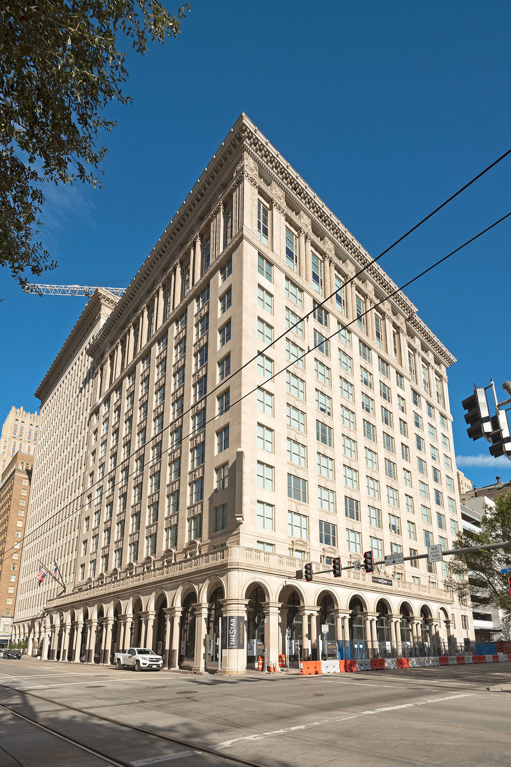 Kip Platt / Provident Realty Group for repurposing the Texas Company Building (1915, 1936, 1959) in downtown Houston /  photo by Jim Parsons