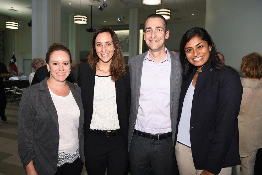 Amanda Barry, Laura Morris, PH board member and Pier & Beam Co-chair Dave Morris, Pier & Beam Steering Committee member Cheryl Joseph /  photo by Daniel Ortiz