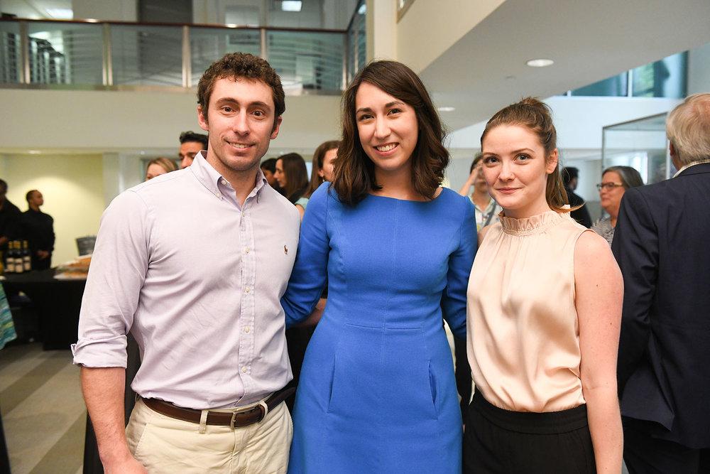 Ross Urban, PH board member and Pier & Beam Co-chair Julia Retta, Anna Robshaw /  photo by Daniel Ortiz
