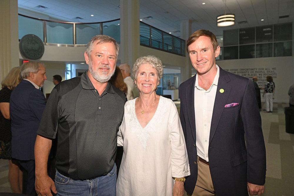 Darryl Herzik, Armin Porter, Pier & Beam Steering Committee member Emerson Vance /  photo by Daniel Ortiz