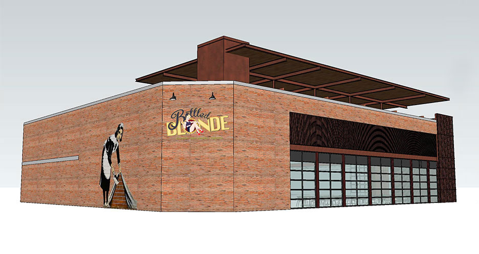 Rendering of proposed alterations to the Weiner's building /  Cisneros Design Studio