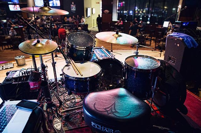 Drummer view for this weekend's shows at @gold_country_casino ! Come rock with us today and tomorrow starting at 8:30! 🎶 #livemusic #concert #coverband #thewizkidband #party #goldcountrycasino #oroville #covers #teinorth