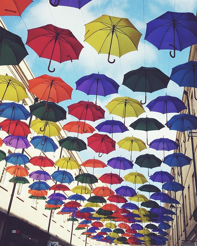 New Southgate are with umbrella art instalation