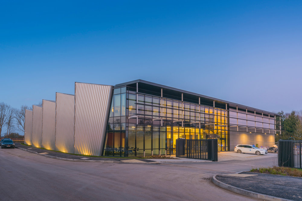 The incorporation of passive systems such as the use of extensive north lights, solar shading to the south-facing glazing and high levels of insulation in the walls delivers low environmental impact and a great place to work.