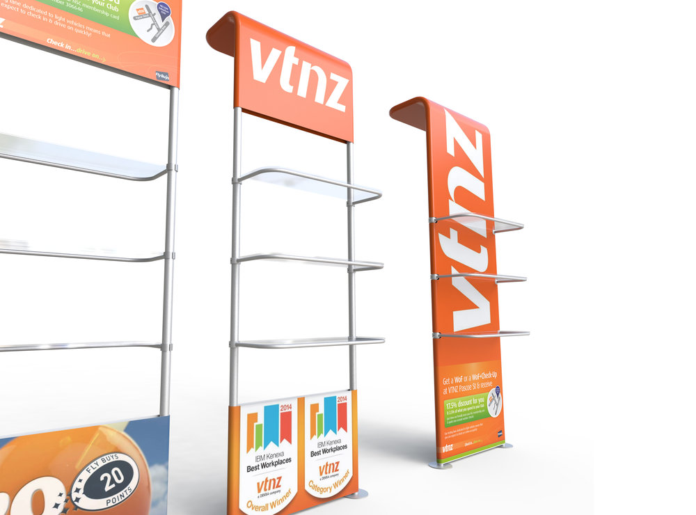 DISPLAY YOUR PRODUCT RANGE WITH GRAPHICS ON TUBELOC DISPLAY WALLS