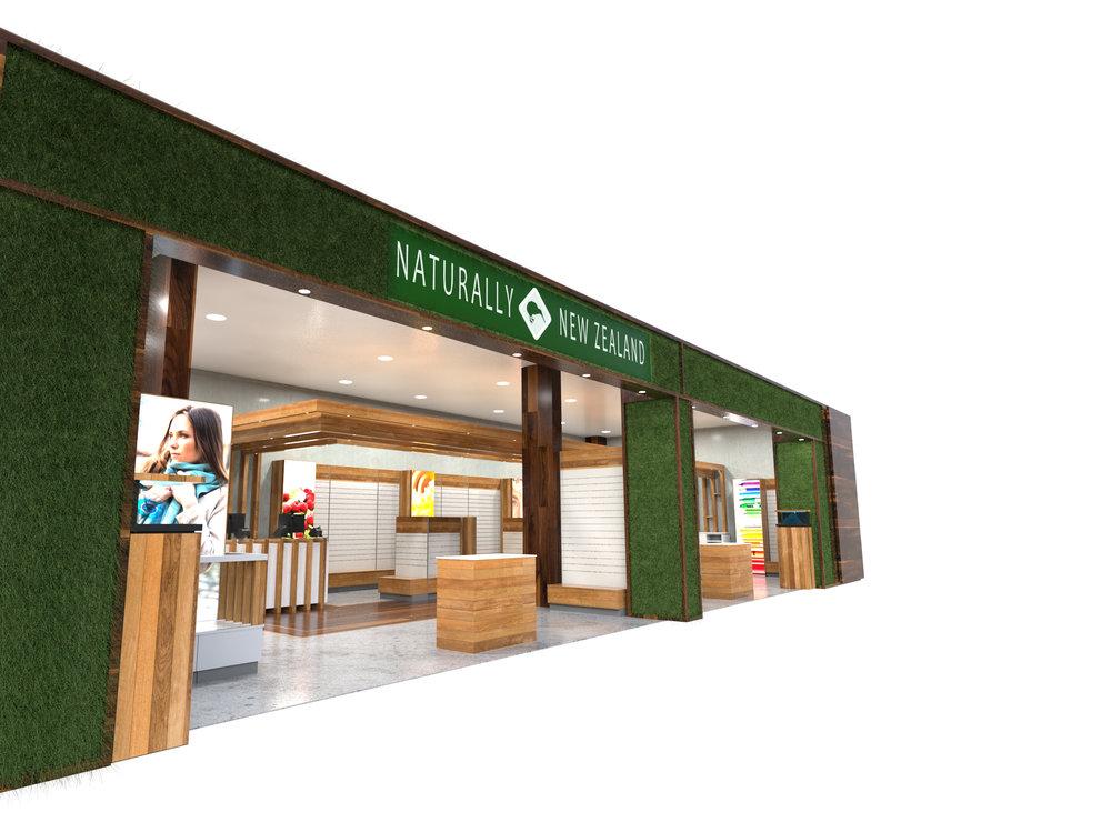 retail design, airport store
