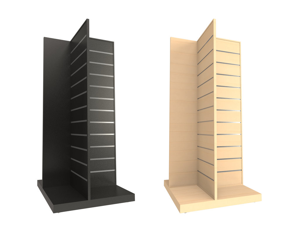Display Fixtures - Off the shelf Slatwall systems or Custom Design & Build