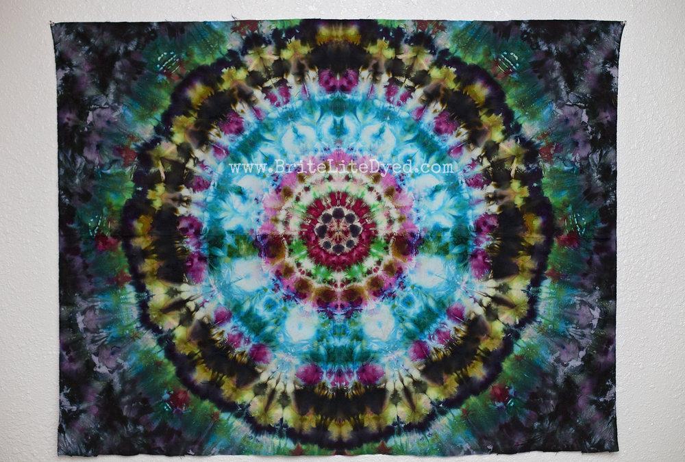 tie dye tapestry - tye dye tapestry - handdyed - mandala