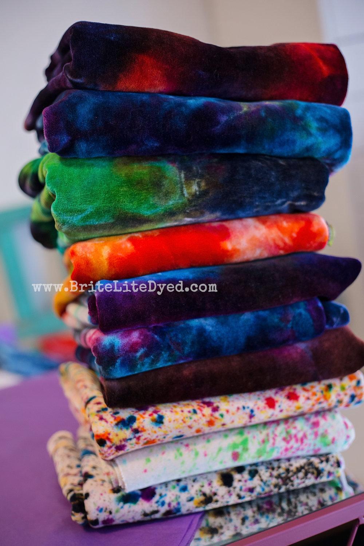 BriteLiteDyed - Hand Dyed Fabrics - Sewing Fabrics - Tie Dye Fabrics