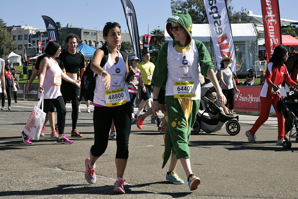 Nat and Bec City2Surf