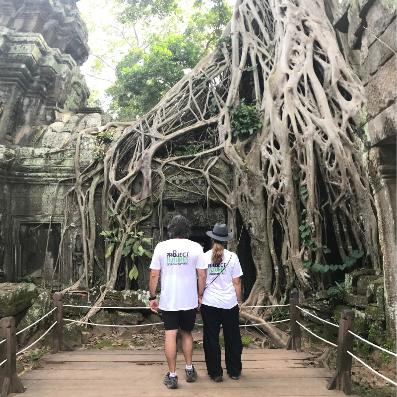 Steve Davis-Raiss & his wife Verity Davis-Raiss visiting Angkor Wat 2018