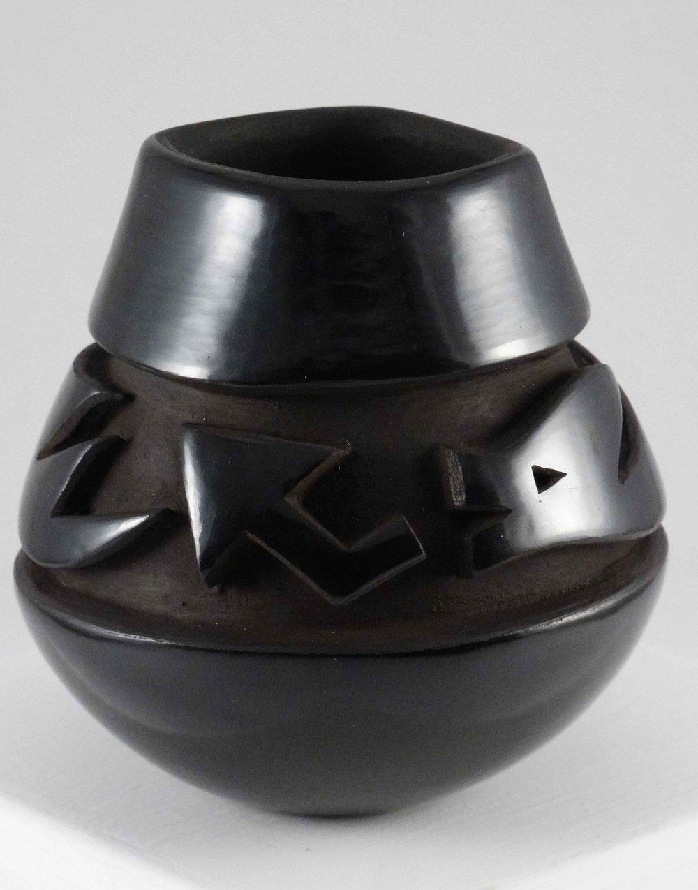 Blackware Jar by Anthony Baca & Johanna Herrera (click to enlarge)
