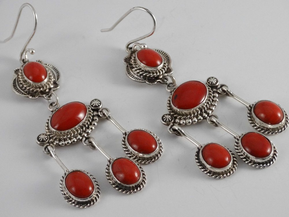 Silver & Coral Earrings by Fritson Toledo (click to enlarge)
