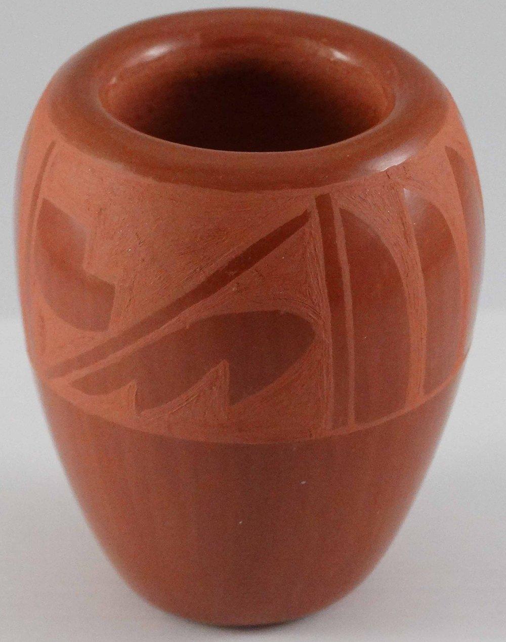 Redware Jar by Harriet Tafoya (click to enlarge)