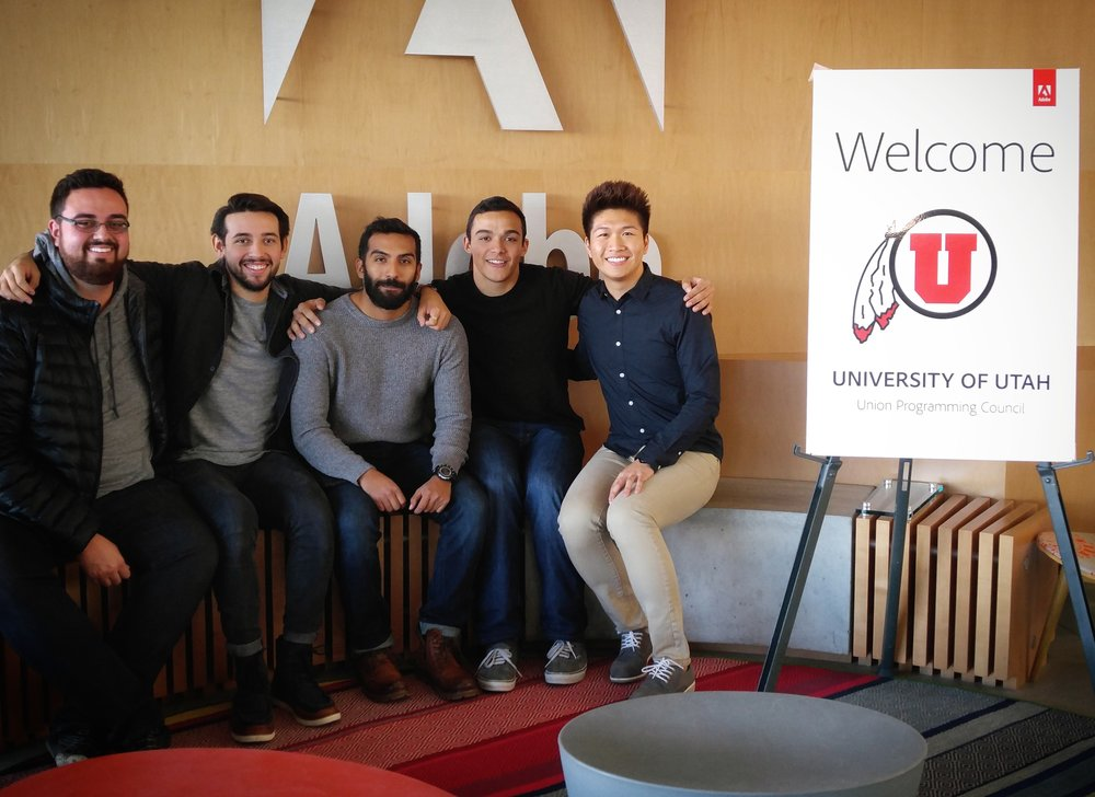 The 2016-2017 UPC Marketing Board (left to right): Jordan, Freddie, Armando, Ryan, Vincent