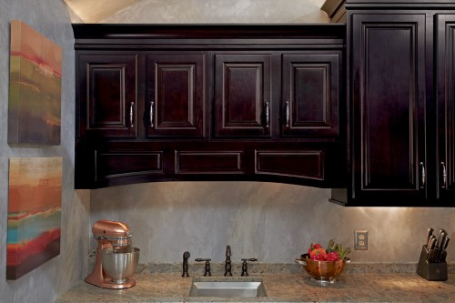 510S maple  espresso raised panel arched valance.jpg