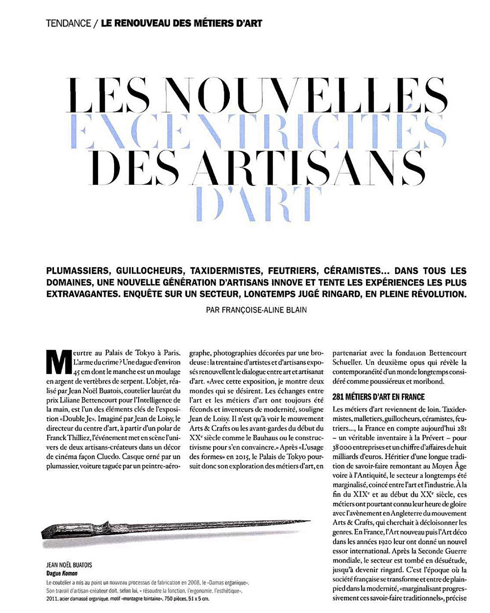BEAUX ARTS MAGAZINE | AVRIL 2016