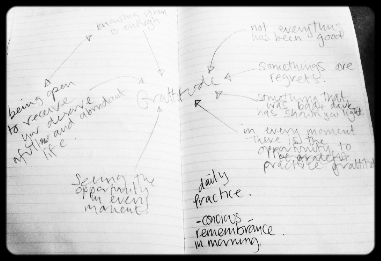 Gratitude mind map: thank you Leila, Katie, Jake and Bri.