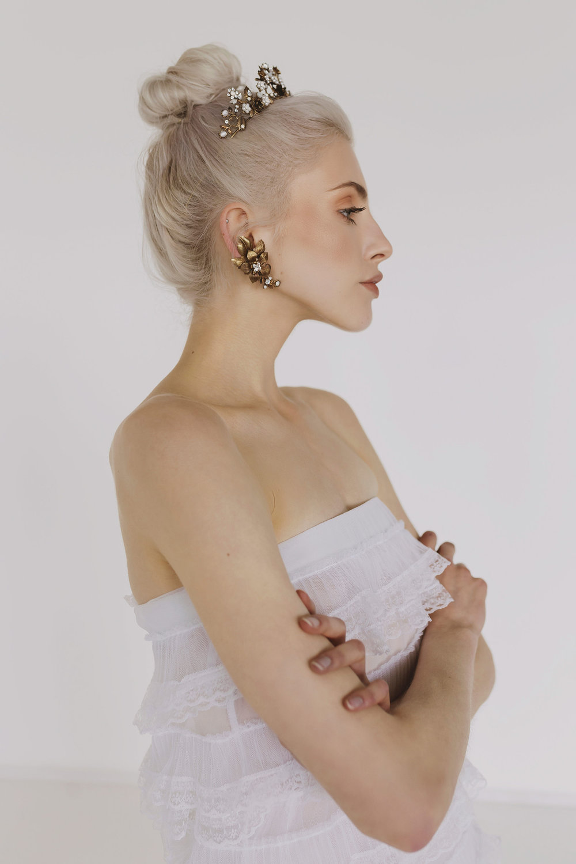 bridal high bun