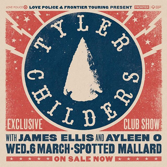 I'm thrilled to announce I'll be opening the show for Kentucky songwriter, Tyler Childers, and with buddy, James Ellis on the bill too! Been looking forward to seeing Tyler supporting @john_prine so this is gonna be an extra special one!! Tickets are on sale today through @lovepolice ❤️ See ya there on 6 March @spottedmallard 🦆#brunswick #tylerchilders #jamesellis #ayleeno #blinddaterecords #twodegreesofjohnprine
