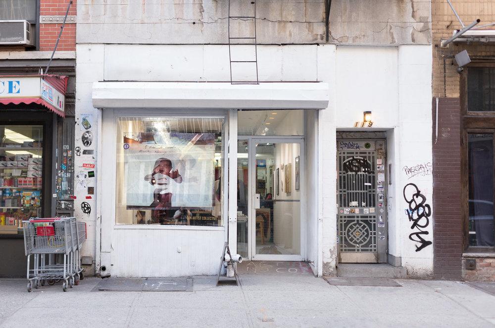 Window installation, Ludlow street, Lower East Side, New York City, 2018