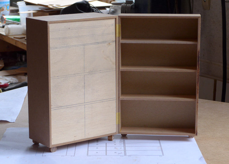 A sneak preview of our Cabinet of Curiosities, being designed and made by Linda Fredheim.