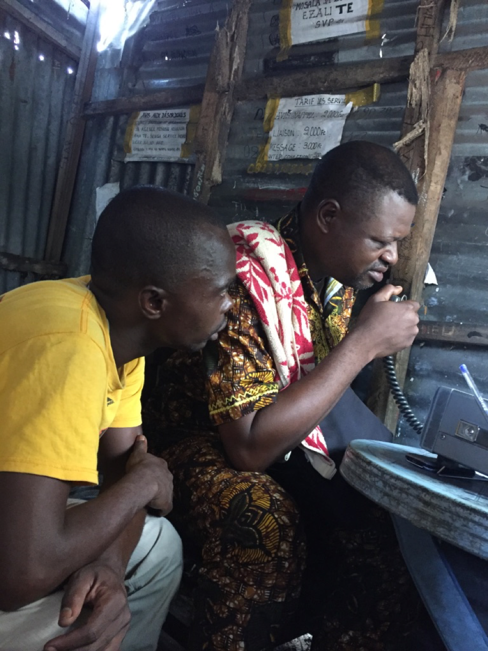Communicating with bofania, sitting in a phonie house in kimbanseke (kinshasa) - april 2017