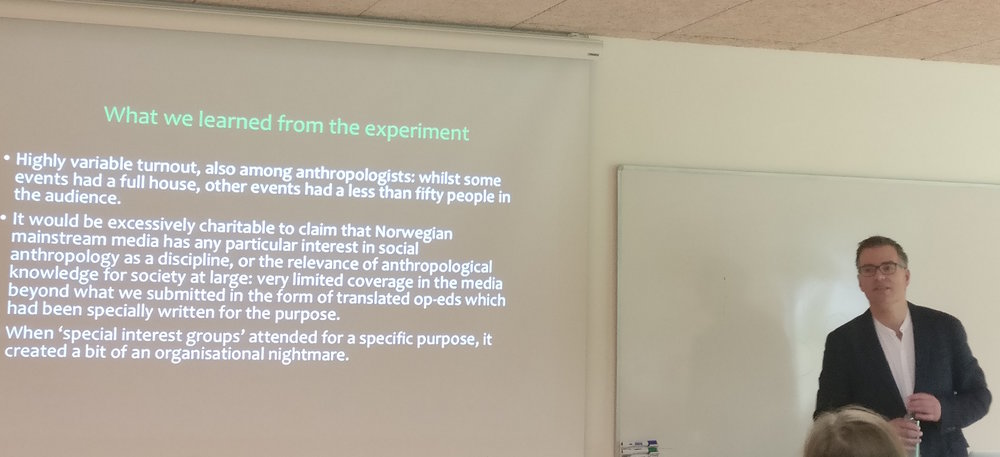 Sindre Bangstad lectures on public anthropology and the media at Aarhus University