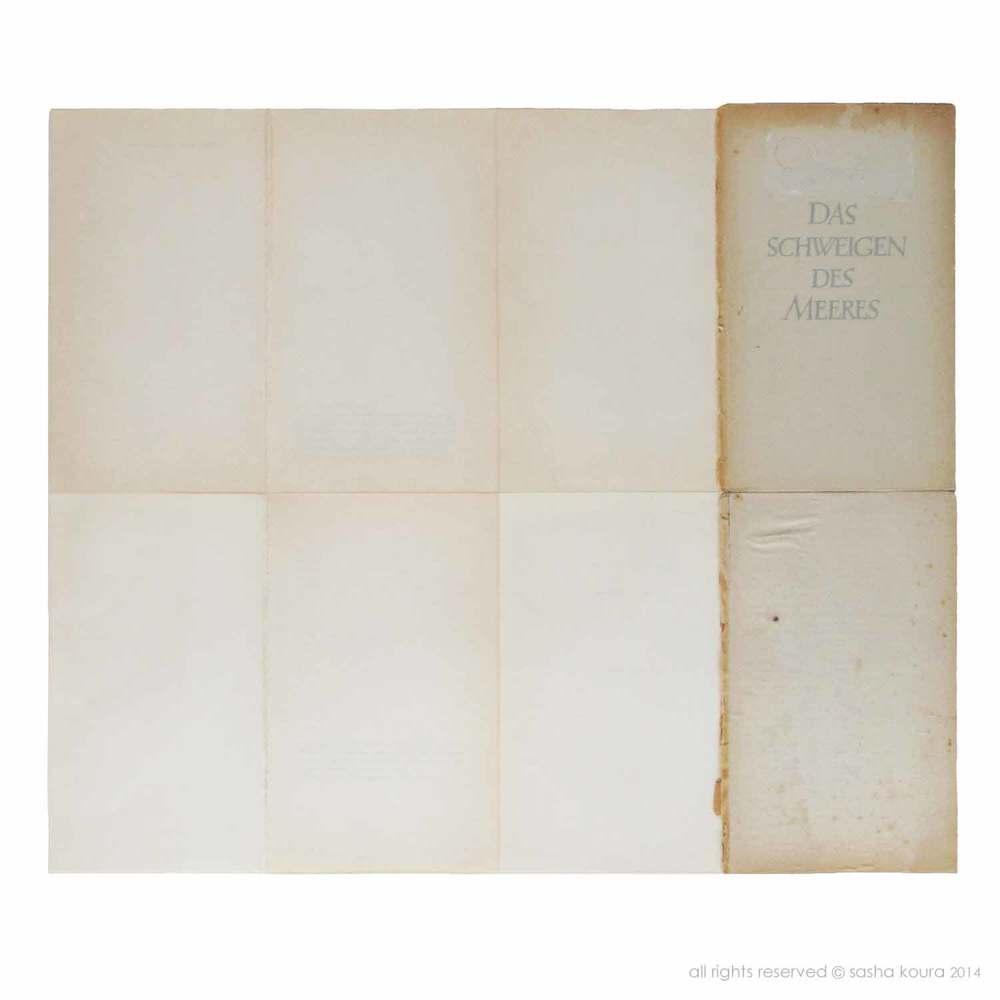 Das Schweigen Des Meeres / © Sasha Koura 2014 / 490mm x 415mm / Collage: card and paper