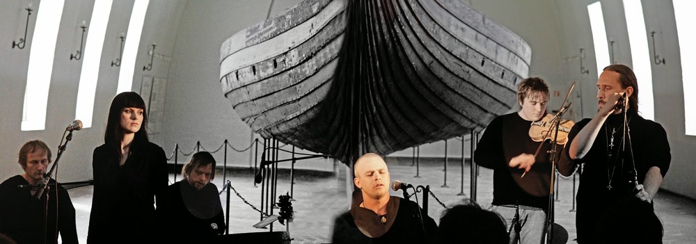 Wardruna playing in the Viking Ship Museum in Oslo.