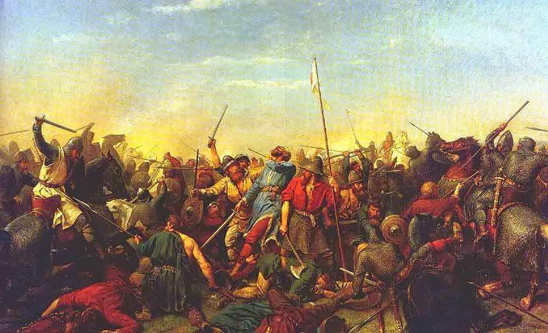 Harald Hardrada dies at the Battle of Stamford Bridge