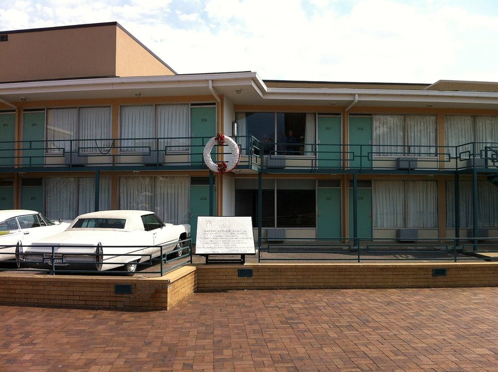 The Lorraine Motel, where Dr. Martin Luther King, Jr. was assassinated, now the home to the National Civil Rights Museum.