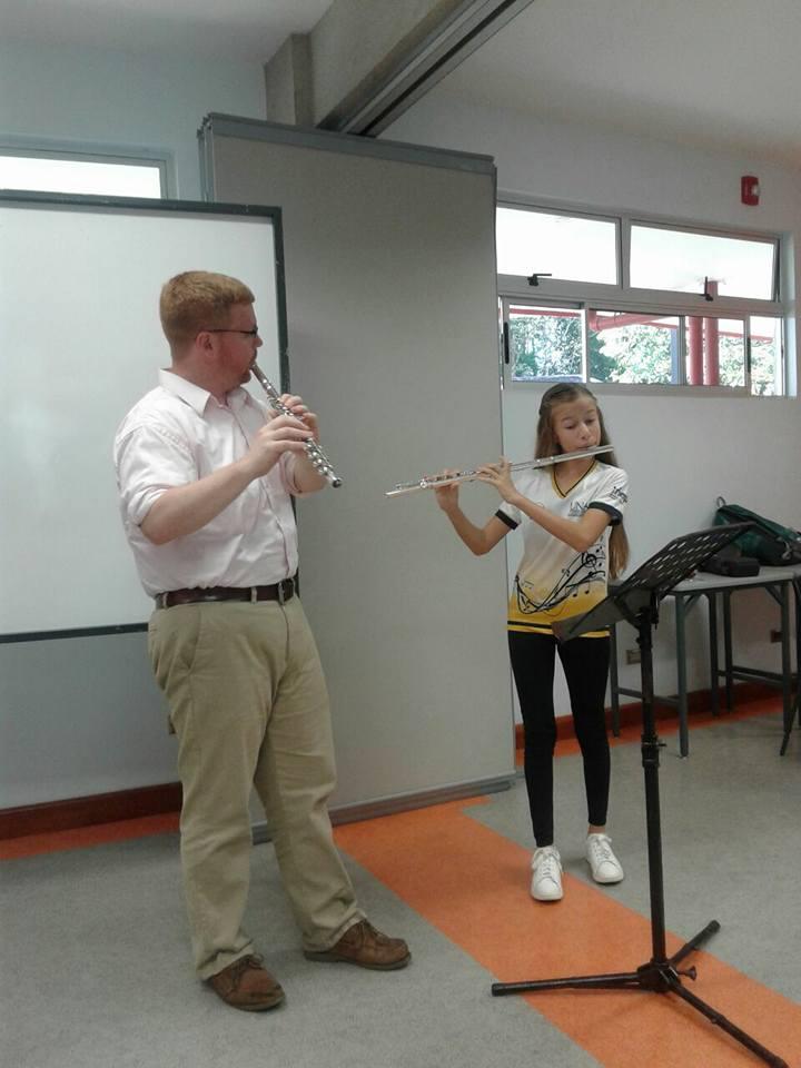 Masterclass at Escuela de Música Sinfónica in Pérez Zeledón, Costa Rica