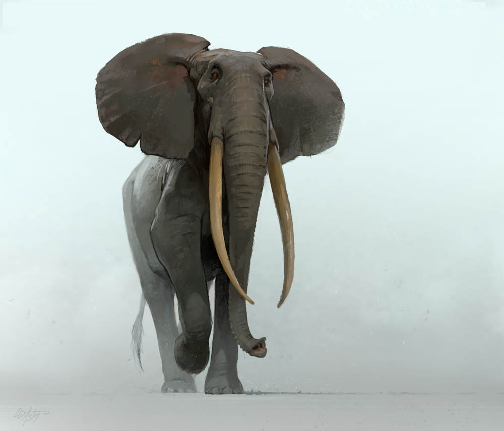 """Elephant in Limbo"" by  Laurel Austin  (digital)"