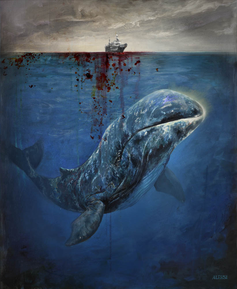 """Bowhead Whale"" by  Aleksi Briclot  (Traditional and digital)"