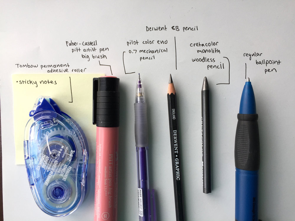 Some of my favorite sketching tools